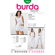 Buy Simplicity Burda Shorts, Crops & Trousers Sewing Pattern, B7966 Online at johnlewis.com