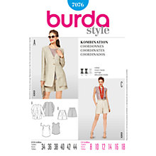 Buy Simplicity Burda Coordinates Sewing Pattern, B7076 Online at johnlewis.com