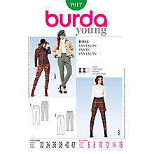 Buy Burda Women's Trouser Sewing Pattern, 7017 Online at johnlewis.com