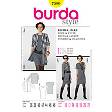 Buy Simplicity Burda Knit Dress & Cardigan Sewing Pattern, B7580 Online at johnlewis.com