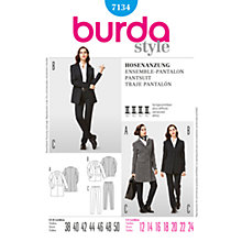 Buy Simplicity Burda Smart Suit Sewing Pattern, B7134 Online at johnlewis.com