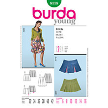 Buy Simplicity Burda Young Skirts Sewing Pattern, B8118 Online at johnlewis.com
