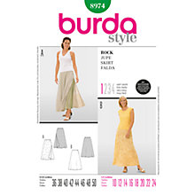 Buy Burda Women's Maxi Skirt Sewing Pattern, 8974 Online at johnlewis.com