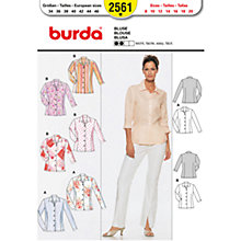 Buy Burda Women's Shirt Sewing Pattern, 2561 Online at johnlewis.com
