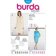 Buy Simplicity Burda Smart Jacket Outfit Sewing Pattern, B7633 Online at johnlewis.com