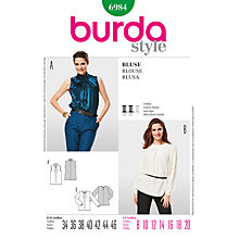 Buy Simplicity Burda Blouse Sewing Pattern, B6984 Online at johnlewis.com