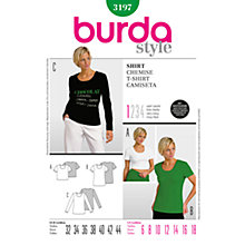 Buy Simplicity Burda T-Shirts Sewing Pattern, B3197 Online at johnlewis.com