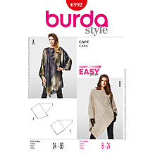 Buy Simplicity Burda Cape Sewing Pattern, B6992 Online at johnlewis.com