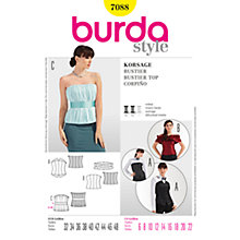 Buy Simplicity Burda Bustier Tops Sewing Pattern, B7088 Online at johnlewis.com