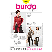 Buy Simplicity Burda Women's Blouse Sewing Pattern, B7126 Online at johnlewis.com