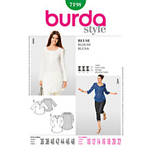 Buy Simplicity Burda Women's Blouse Sewing Pattern, B7198 Online at johnlewis.com