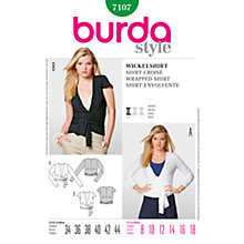 Buy Simplicity Burda Women's Shirt Sewing Pattern, B7107 Online at johnlewis.com