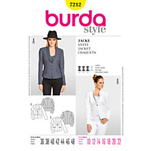 Buy Simplicity Burda Women's Jacket Sewing Pattern, B7212 Online at johnlewis.com