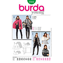 Buy Burda Women's Cape Coat Sewing Pattern, 7313 Online at johnlewis.com