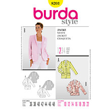 Buy Simplicity Burda Women's Blazer Sewing Pattern, B8201 Online at johnlewis.com