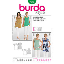 Buy Simplicity Burda Women's Tops Sewing Pattern, B7645 Online at johnlewis.com