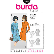 Buy Simplicity Burda Coats Sewing Pattern, B7041 Online at johnlewis.com