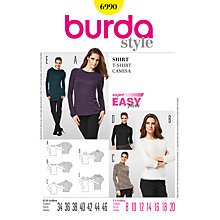Buy Burda Women's Top Sewing Pattern, 6990 Online at johnlewis.com