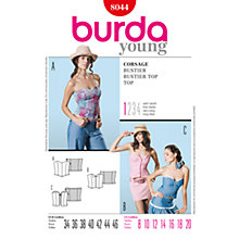 Buy Simplicity Burda Bustier Tops Sewing Pattern, B8044 Online at johnlewis.com