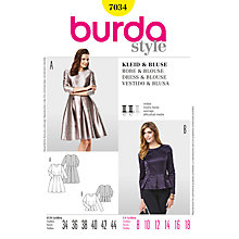 Buy Simplicity Burda Dress and Blouse Sewing Pattern, B7034 Online at johnlewis.com