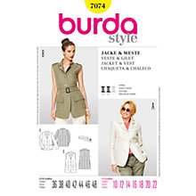 Buy Simplicity Burda Women's Jacket Sewing Pattern, B7074 Online at johnlewis.com