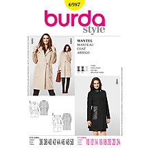 Buy Simplicity Burda Women's Coats Sewing Pattern, B6987 Online at johnlewis.com