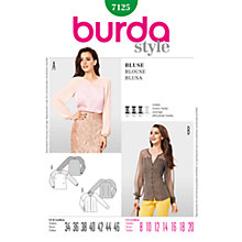 Buy Simplicity Burda Women's Blouse Sewing Pattern, B7125 Online at johnlewis.com