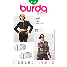 Buy Simplicty Burda Women's Jacket Sewing Pattern, B7183 Online at johnlewis.com