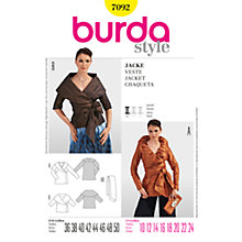 Buy Simplicity Burda Women's Jacket Sewing Pattern, B7092 Online at johnlewis.com