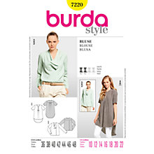 Buy Simplicity Burda Women's Blouse Sewing Pattern, B7220 Online at johnlewis.com