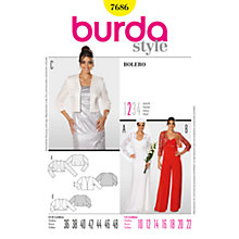 Buy Simplicity Burda Women's Bolero Jacket Sewing Pattern, B7686 Online at johnlewis.com