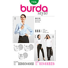 Buy Simplicity Burda Women's Shirt Sewing Pattern, B7136 Online at johnlewis.com