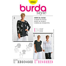 Buy Simplicity Burda Women's Tops Sewing Pattern, B8363 Online at johnlewis.com