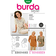Buy Simplicity Burda Women's T-Shirt Sewing Pattern, B8998 Online at johnlewis.com