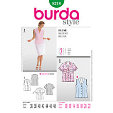 Buy Simplicity Burda Blouses Sewing Pattern, B8218 Online at johnlewis.com