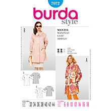 Buy Burda Women's Coat Sewing Pattern, 7072 Online at johnlewis.com