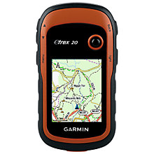 Buy Garmin eTrex 20 Handheld GPS, Black/Orange Online at johnlewis.com