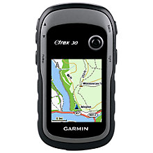 Buy Garmin eTrex 30 Handheld GPS, Black Online at johnlewis.com