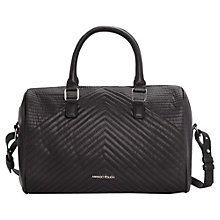 Buy Mango Quilted Bowling Handbag, Black Online at johnlewis.com