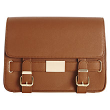 Buy Warehouse Double Buckle Mini Satchel, Tan Online at johnlewis.com