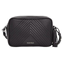 Buy Mango Tassel Quilted Pattern Bag, Black Online at johnlewis.com