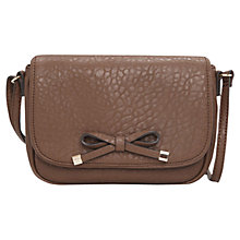 Buy Mango Bow Pebble Handbag, Medium Brown Online at johnlewis.com
