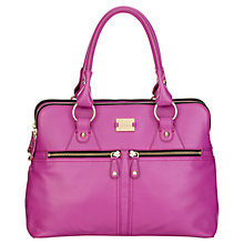 Buy Modalu Pippa Large Leather Grab Bag, Magenta Online at johnlewis.com