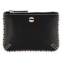 Buy Tula Mallory Leather Coin Purse, Black Online at johnlewis.com