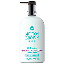 Buy Molton Brown Silk & Vetiver Enriching Hand Lotion, 300ml Online at johnlewis.com