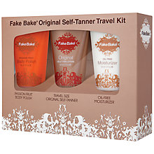 Buy Fake Bake Original Travel Self Tan Kit, 3 x 60ml Online at johnlewis.com