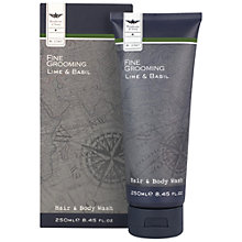 Buy Heathcote & Ivory Fine Grooming Lime and Basil Hair & Body Wash , 250ml Online at johnlewis.com