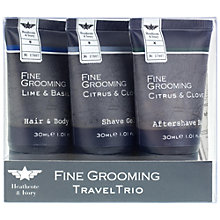 Buy Heathcote & Ivory Fine Grooming Travel Trio, 3 x 30ml Online at johnlewis.com