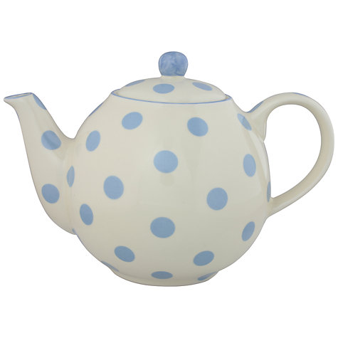 Buy London Pottery Spot Teapot, Powder Blue Online at johnlewis.com