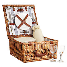 Buy John Lewis Luxury Willow Striped Picnic Hamper, 2 Person Online at johnlewis.com
